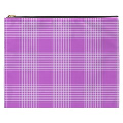 Seamless Tartan Pattern Cosmetic Bag (xxxl)