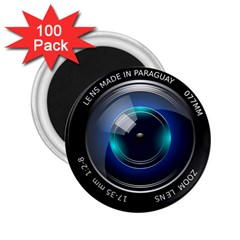 Camera Lens Prime Photography 2 25  Magnets (100 Pack)