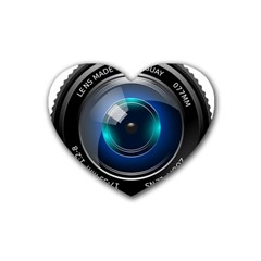 Camera Lens Prime Photography Heart Coaster (4 Pack)