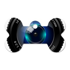 Camera Lens Prime Photography Dog Tag Bone (two Sides)