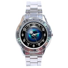 Camera Lens Prime Photography Stainless Steel Analogue Watch