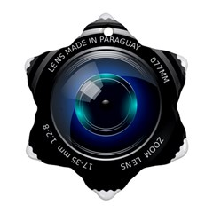 Camera Lens Prime Photography Snowflake Ornament (two Sides)
