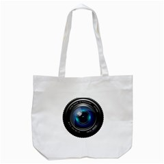 Camera Lens Prime Photography Tote Bag (white)