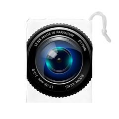 Camera Lens Prime Photography Drawstring Pouches (large)
