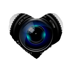 Camera Lens Prime Photography Standard 16  Premium Flano Heart Shape Cushions