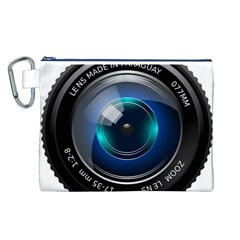 Camera Lens Prime Photography Canvas Cosmetic Bag (l)