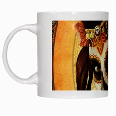 Fantasy Girl Art White Mugs
