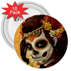 Fantasy Girl Art 3  Buttons (10 Pack)