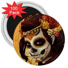Fantasy Girl Art 3  Magnets (100 Pack)