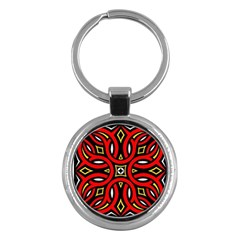 Traditional Art Pattern Key Chains (round)