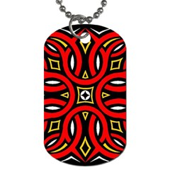 Traditional Art Pattern Dog Tag (one Side)