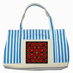 Traditional Art Pattern Striped Blue Tote Bag