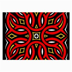 Traditional Art Pattern Large Glasses Cloth