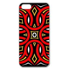 Traditional Art Pattern Apple Seamless Iphone 5 Case (clear)
