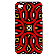 Traditional Art Pattern Apple Iphone 4/4s Hardshell Case (pc+silicone)