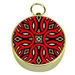 Traditional Art Pattern Gold Compasses Front