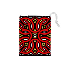 Traditional Art Pattern Drawstring Pouches (small)