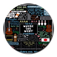 Book Quote Collage Round Mousepads