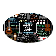 Book Quote Collage Oval Magnet