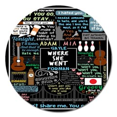 Book Quote Collage Magnet 5  (round)