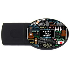 Book Quote Collage Usb Flash Drive Oval (2 Gb)