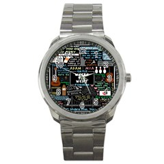 Book Quote Collage Sport Metal Watch