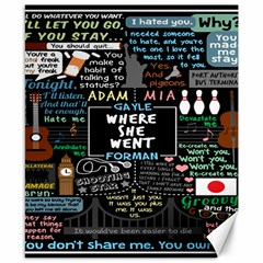 Book Quote Collage Canvas 8  X 10