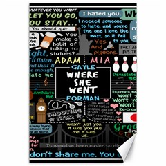 Book Quote Collage Canvas 24  X 36
