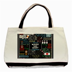 Book Quote Collage Basic Tote Bag (two Sides)