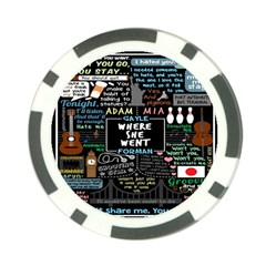Book Quote Collage Poker Chip Card Guard