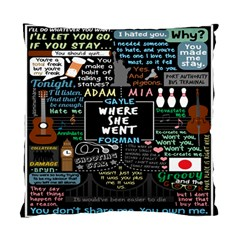 Book Quote Collage Standard Cushion Case (two Sides)