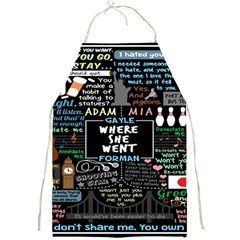 Book Quote Collage Full Print Aprons