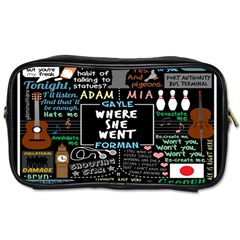 Book Quote Collage Toiletries Bags 2 Side