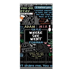Book Quote Collage Shower Curtain 36  X 72  (stall)