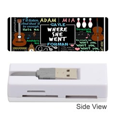 Book Quote Collage Memory Card Reader (stick)