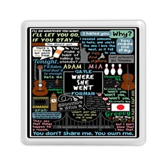 Book Quote Collage Memory Card Reader (square)