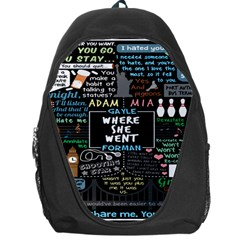 Book Quote Collage Backpack Bag