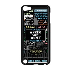 Book Quote Collage Apple Ipod Touch 5 Case (black)