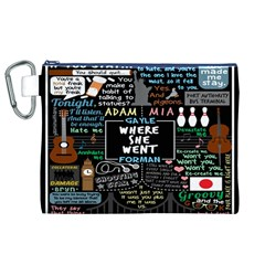 Book Quote Collage Canvas Cosmetic Bag (xl)