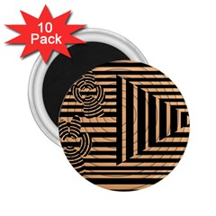 Wooden Pause Play Paws Abstract Oparton Line Roulette Spin 2 25  Magnets (10 Pack)