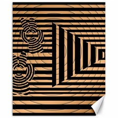 Wooden Pause Play Paws Abstract Oparton Line Roulette Spin Canvas 16  X 20
