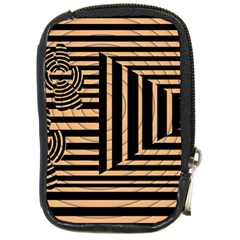 Wooden Pause Play Paws Abstract Oparton Line Roulette Spin Compact Camera Cases