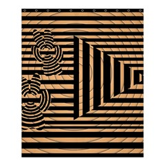 Wooden Pause Play Paws Abstract Oparton Line Roulette Spin Shower Curtain 60  X 72  (medium)