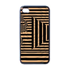 Wooden Pause Play Paws Abstract Oparton Line Roulette Spin Apple Iphone 4 Case (black)