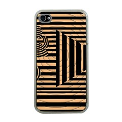 Wooden Pause Play Paws Abstract Oparton Line Roulette Spin Apple Iphone 4 Case (clear)