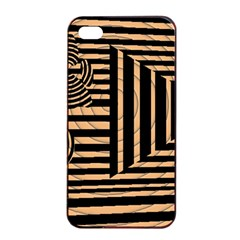 Wooden Pause Play Paws Abstract Oparton Line Roulette Spin Apple Iphone 4/4s Seamless Case (black)
