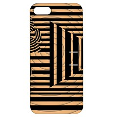 Wooden Pause Play Paws Abstract Oparton Line Roulette Spin Apple Iphone 5 Hardshell Case With Stand
