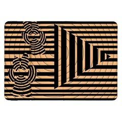 Wooden Pause Play Paws Abstract Oparton Line Roulette Spin Samsung Galaxy Tab 8 9  P7300 Flip Case