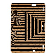 Wooden Pause Play Paws Abstract Oparton Line Roulette Spin Kindle Fire Hdx 8 9  Hardshell Case