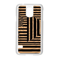 Wooden Pause Play Paws Abstract Oparton Line Roulette Spin Samsung Galaxy S5 Case (white)